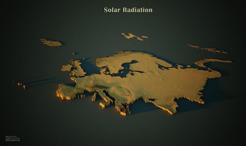 Solar Radiation in Europe