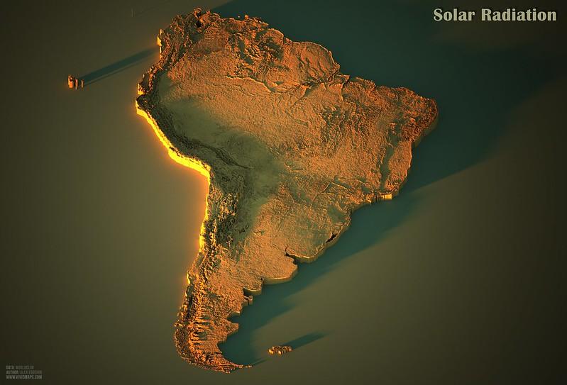 Solar Radiation in South America