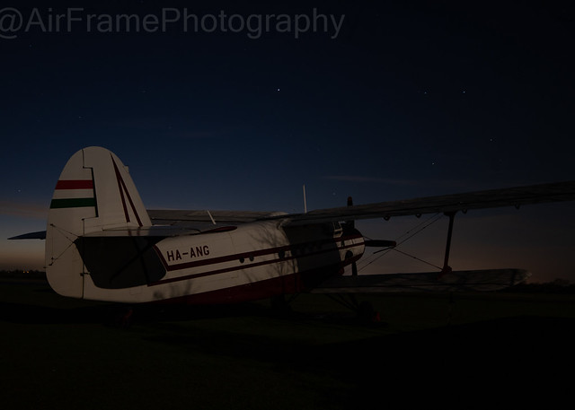 Hintons AN-2 by moon light,