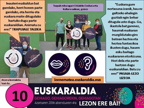 Euskaraldia 2020. Lezoko hasiera ekitaldia eta entitateak (2020-11-20)