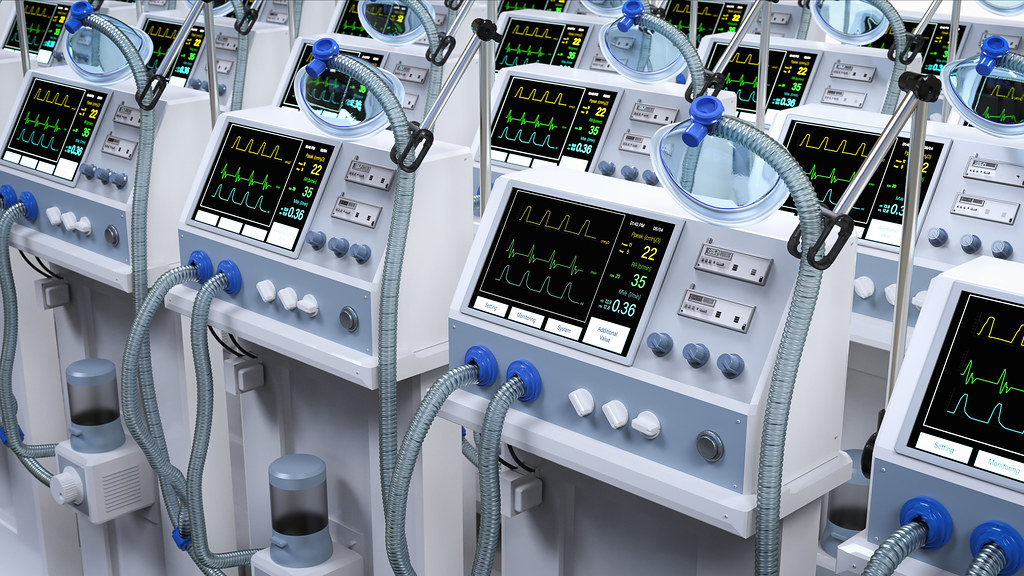 A group of ventilators