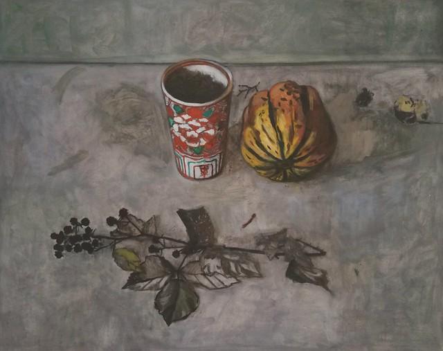 Fall, huile sur papier 46x38cm. Follow my Instagram isa.sauv.peinture