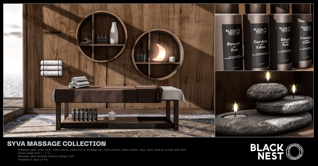 BLACK NEST / Syva Massage Collection / FaMESHed