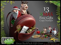 Christmas backpack Gift Giver