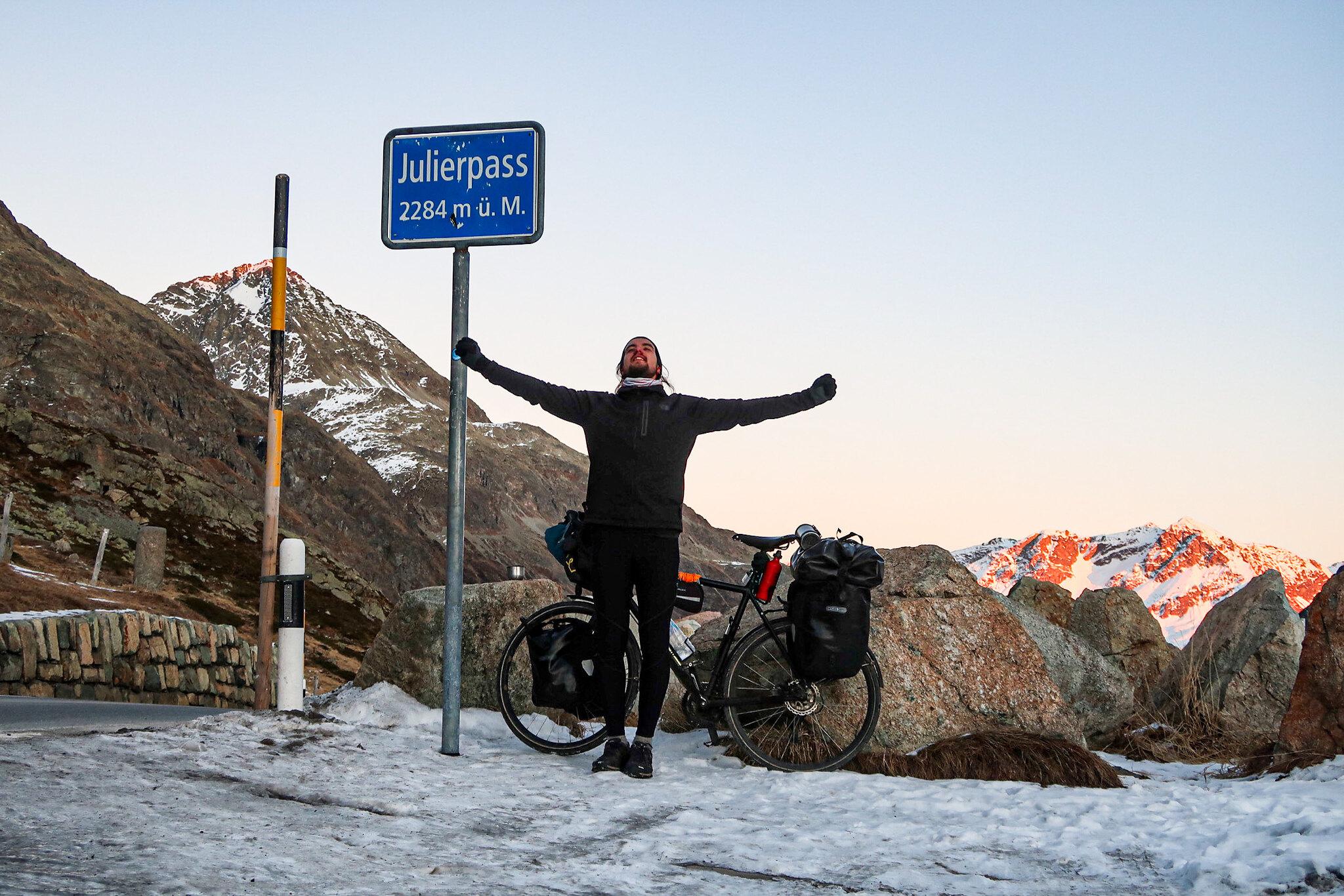 Crossing Julierpass Switzerland