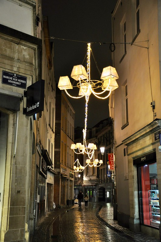 Luces por las calles de Bruselas I