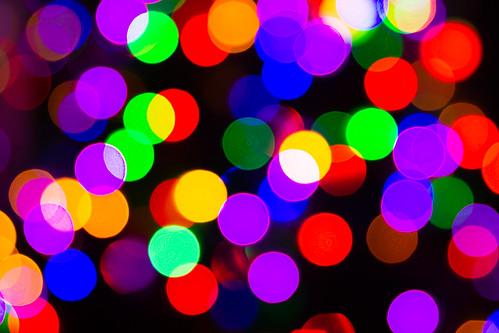 Day 1102 | Christmas Tree Lights A Blur