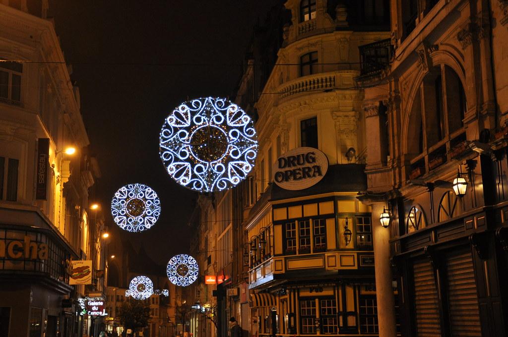 Luces por las calles de Bruselas II