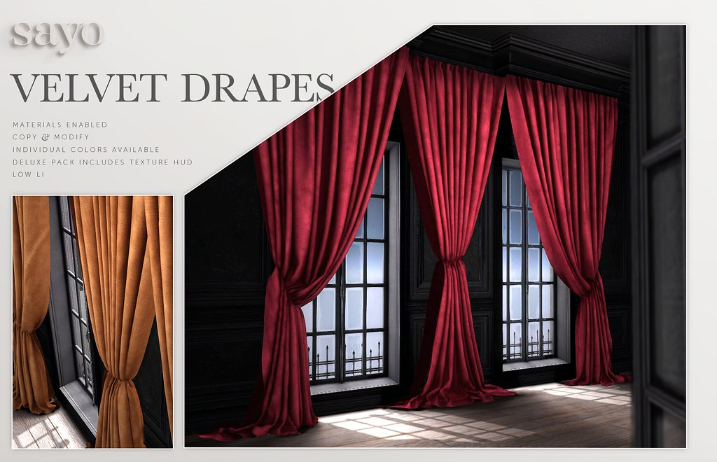 SAYO Velvet Drapes @ Fameshed