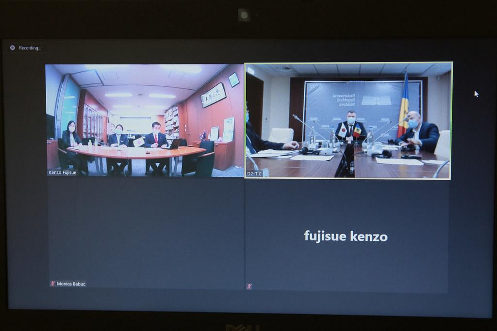 01.12.2020 Reuniunea membrilor Grupului parlamentar de prietenie Republica Moldova – Japonia
