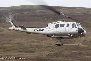 G-UHGB Bell 205A-1 Heli Heli-Lift Services Clyde Muirshel Regional Park 16.11-20