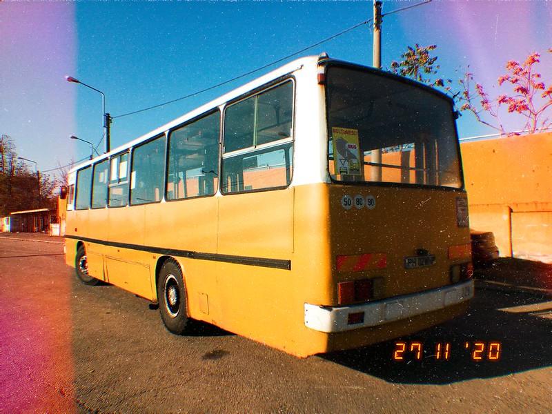 Autobuz Ikarus 260.02 (ex. 43) #2283 în linia 104 al TCE Ploiești