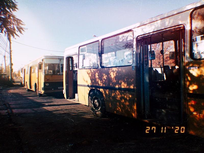 Autobuze Ikarus 260.02 #2283 & #2120 în linia 104 ale TCE Ploiești