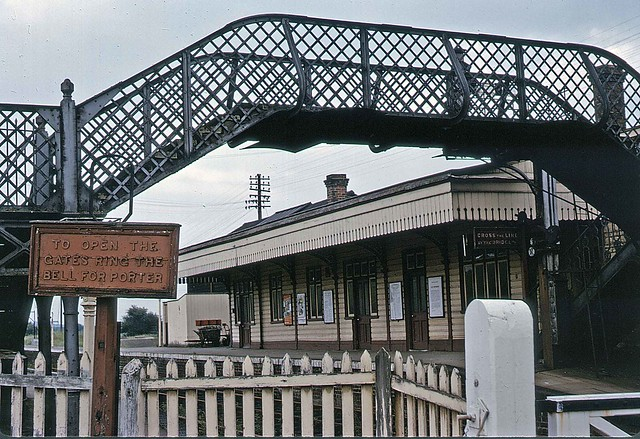 Seaton station and footbridge