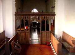 through the east window