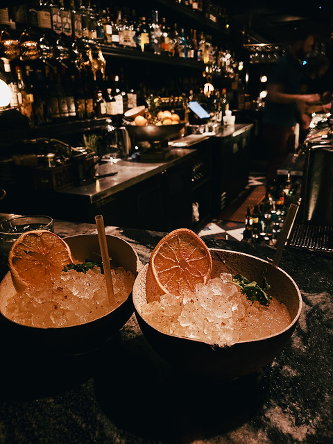 2 Cocktails in a Half Shell
