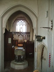 through the west window