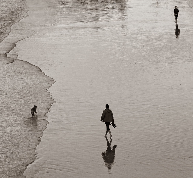 Minimalism on the beach / San Sebastian