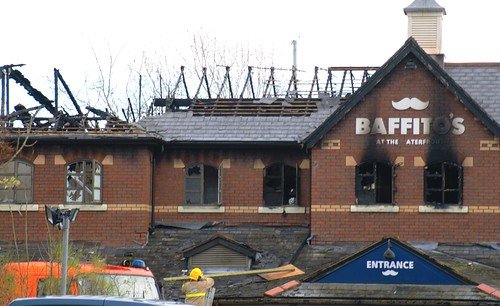 Aftermath of the fire at Baffitos | by Tony Worrall