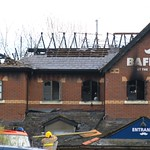 Aftermath of the fire at Baffitos