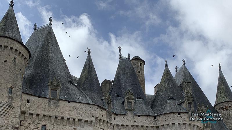Toitures du Château de Jumilhac - Périgord