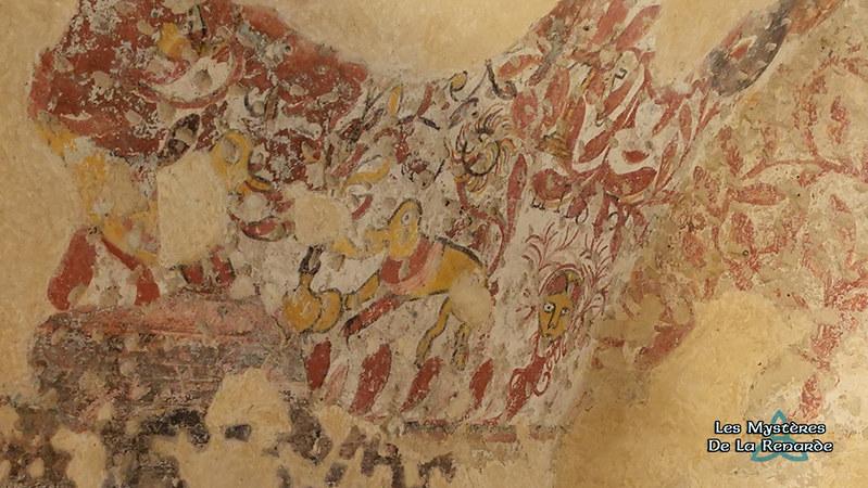 Peintures de la Chambre de la Fileuse - Château de Jumilhac