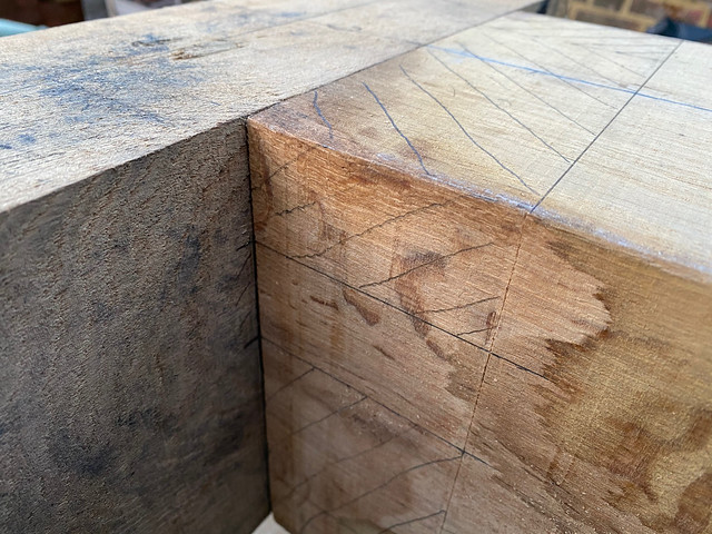 Marking the mortice at the same as the tenon