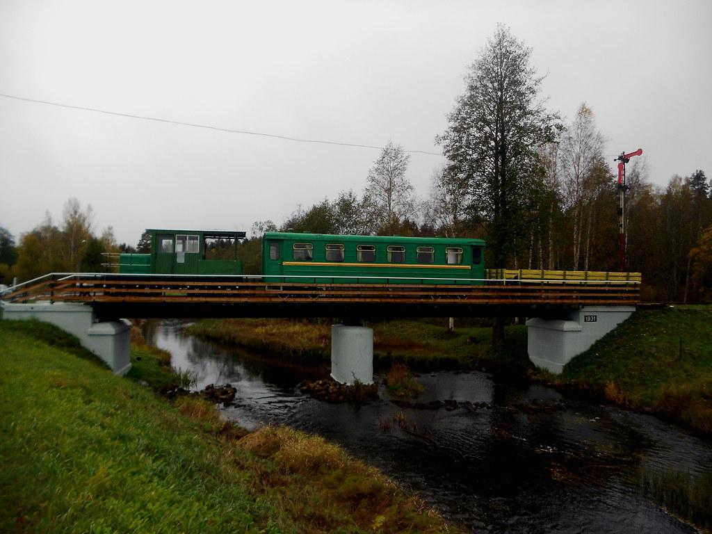 Посёлок Авинурме. Поезд-музей.