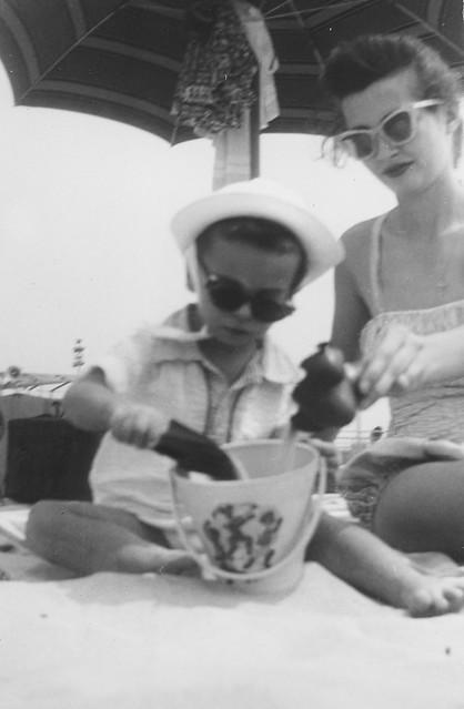 Vintage Beach Kid, 1955