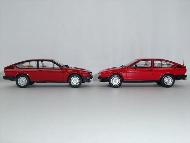 Alfa Romeo Alfetta GTV6 (Minichamps + Spark 1/43)