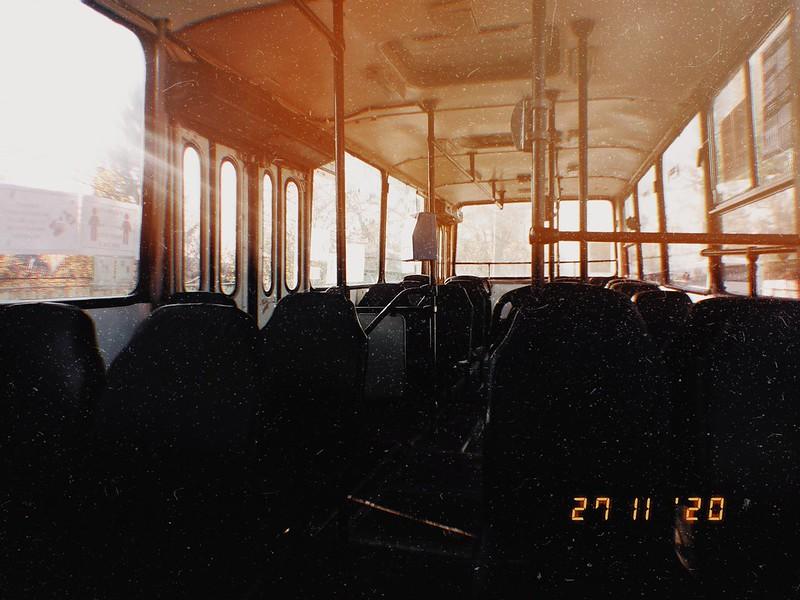 Interior autobuz Ikarus 260.02 (ex. 43) #2283 în linia 104 al TCE Ploiești