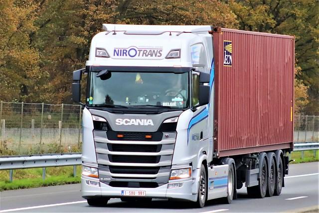 Scania S450 highline, from Nirotrans, Belgium.