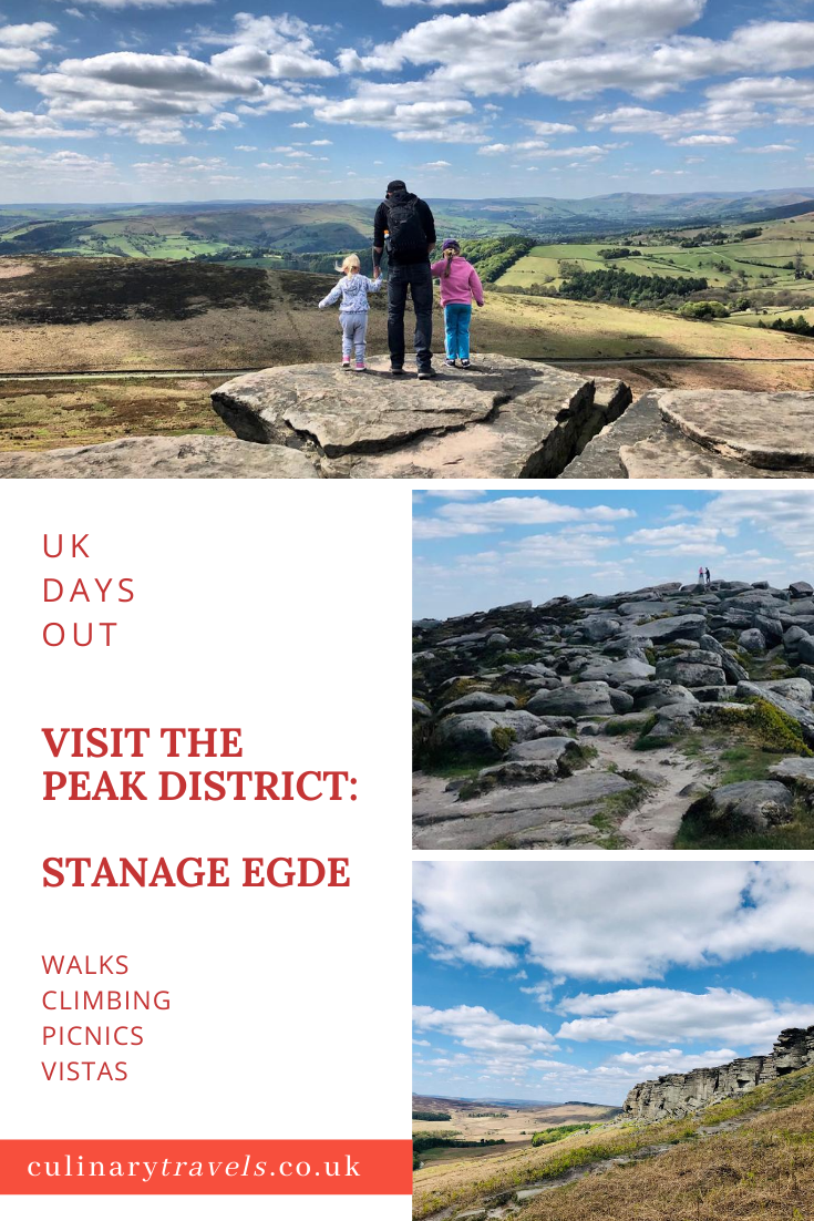 Stanage Edge in the Peak District. A beautiful place for a stroll or more adventurous outdoor activities like rock climbing.