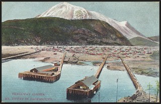 c. 1910 Lowman & Hanford & Printing Company (5004) Postcard - View of Skagaway / Skagway, Alaska with Mount Dewey in the Background