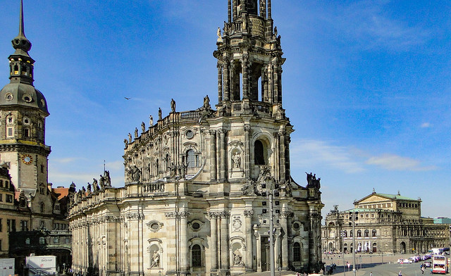 Dresden... Castle, Church of the Royal Court of Saxony and Saxon State Opera