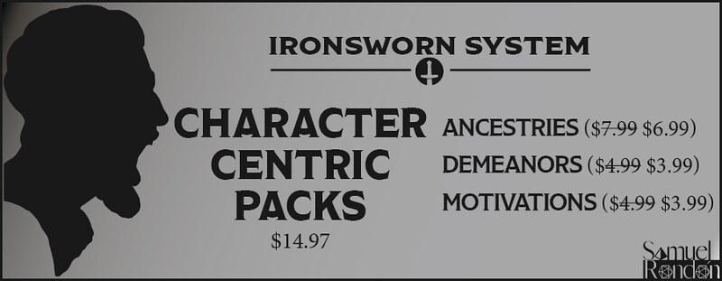 Ironsworn Character-Centric Packs Bundle.