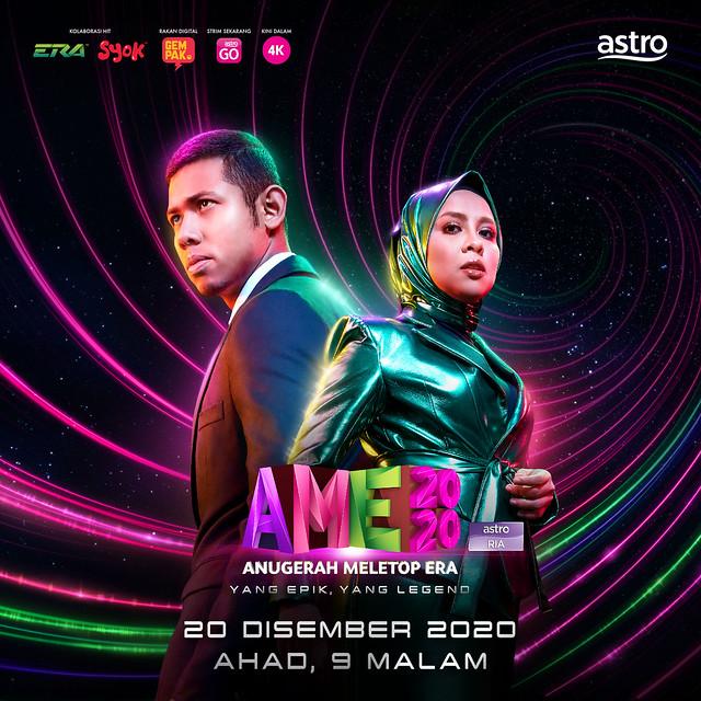 Anugerah Meletop Era 2020 Diteruskan Mengikut Sop Pada 20 Disember Ini