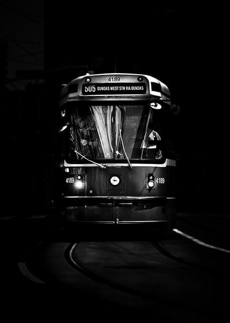 The 505 Dundas Streetcar Toronto Canada