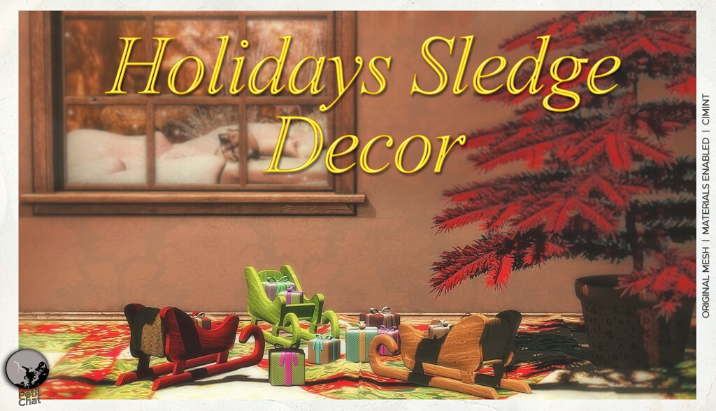 New release : Holidays Sledge Decor @ I ♥ The Cart Hunt