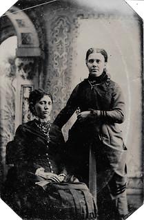 Two Victorian Ladies ~ Tintype