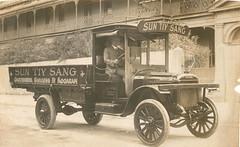 Sun Tiy Sang, gardener, Burgess Street, Kogarah, truck with Sam Wright body, ca. 1925