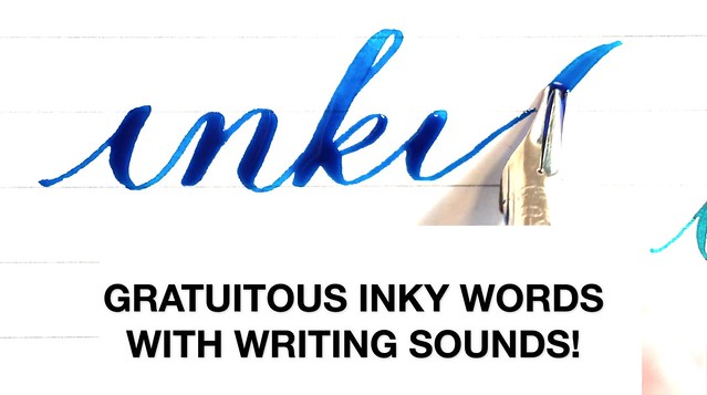 Gratuitous Inky Words with Writing Sounds! Title Card