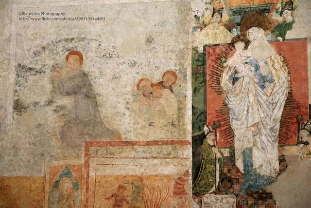 Reichenau Island, Münster St. Maria and Markus, historical frescos