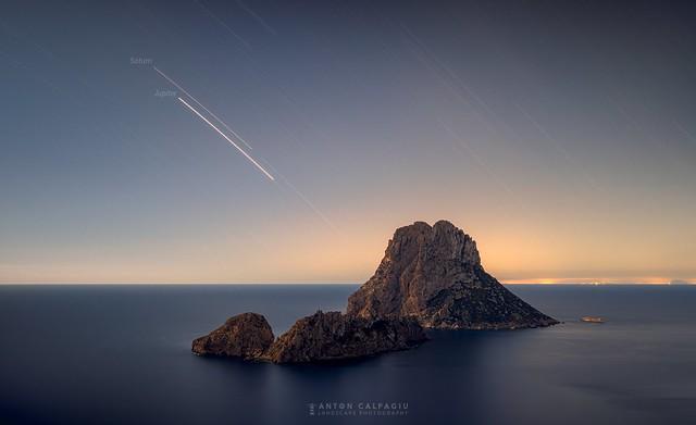Startrails , Es vedra , Ibiza ...