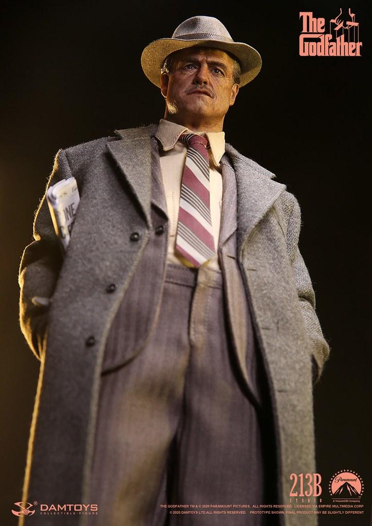 DAMTOYS《教父》維托·柯里昂(流金歲月版本)1/6比例人偶 重現遭到槍擊前一刻的造型!