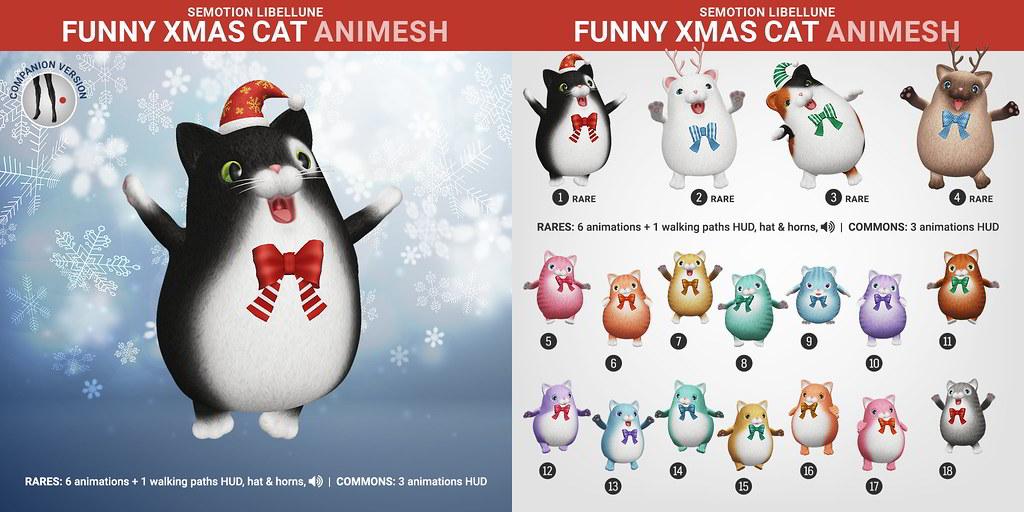 SEmotion Libellune Funny Xmas Cat Animesh
