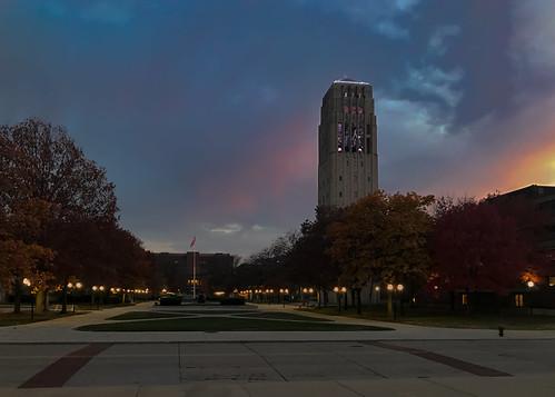 burtonmemorialtower michigan unitedstates sunset universityofmichigan annarbor burtontower