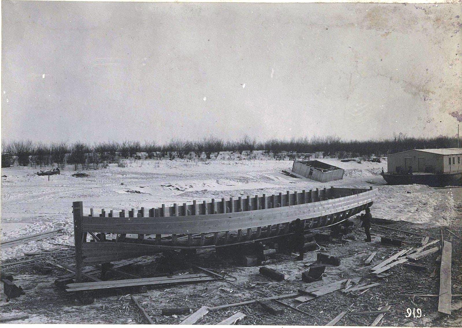 919. Строительство корабля в зимний период