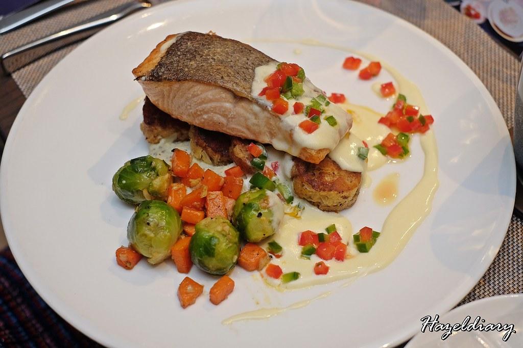 Pan Seared Salmon in Apple Glazed Butter Cream-Oakwood Premier