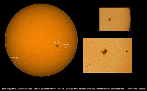 Sunspots 1st December 2020